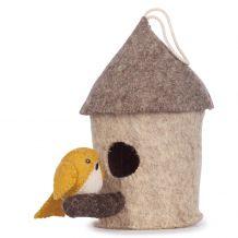 kidsdepot Decoratie Vogelhuisje met mus