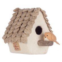 kidsdepot Decoratie Vogelhuisje met merel