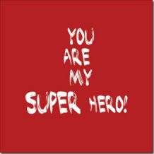 Canvas Super hero (red)