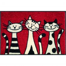 Schoonloopmat Three Cats