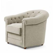 riviera maison Fauteuil Grantham Chair Linen FabFlax