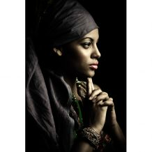 dome deco Schilderij A African woman