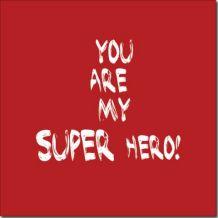 Canvas Super hero (red)
